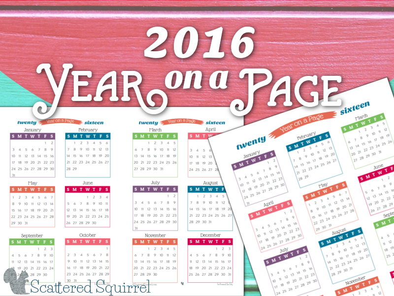 Year On Page Printable Calendars Are Here   Calendar