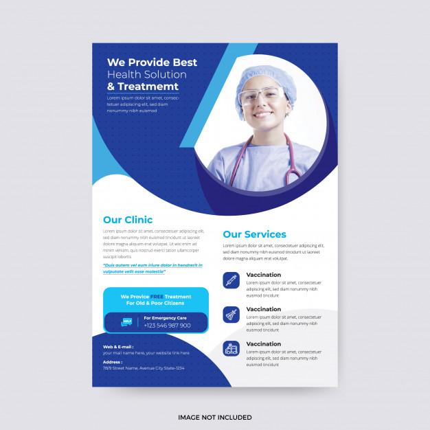 Modern Hospital Flyer Template Flyer Template Flyer Brochure Inspiration