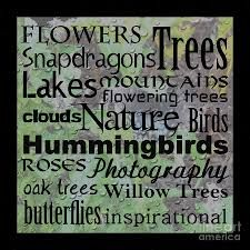 "word art for ""nature"" - Google Search"
