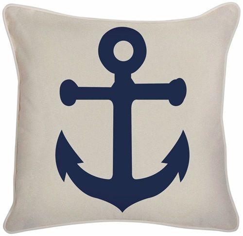 Lovely Thomas Paul Outdoor Anchor Pillow Denim Blue   Traditional   Outdoor Pillows      By Vertigo Home
