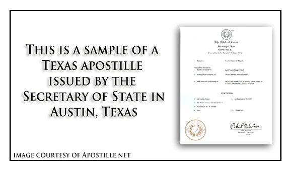 pin by apostille net on state of texas sample apostille | pinterest