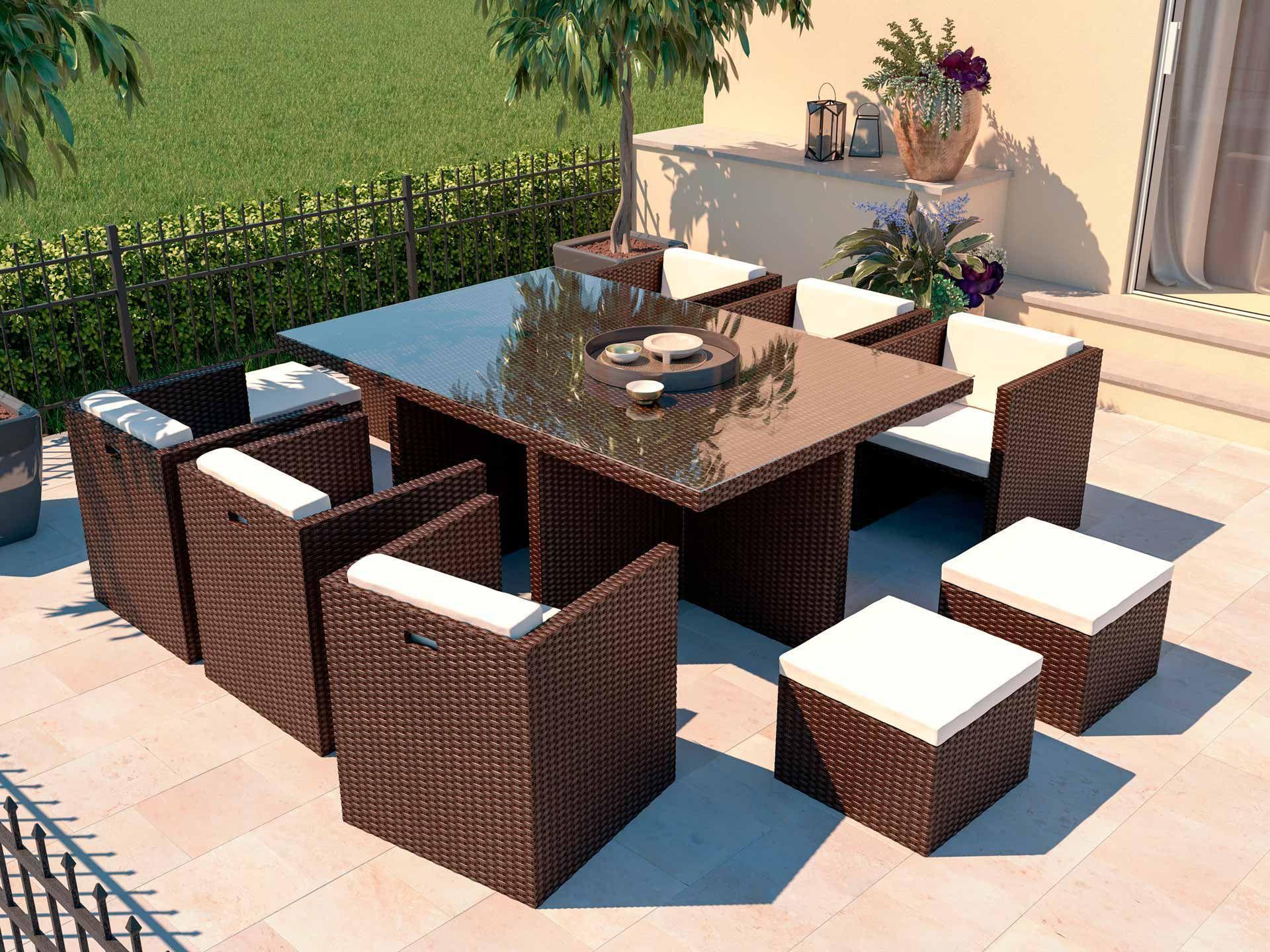 Boreas L   Polyrattan sitzgruppe, Außenmöbel, Sitzgruppe