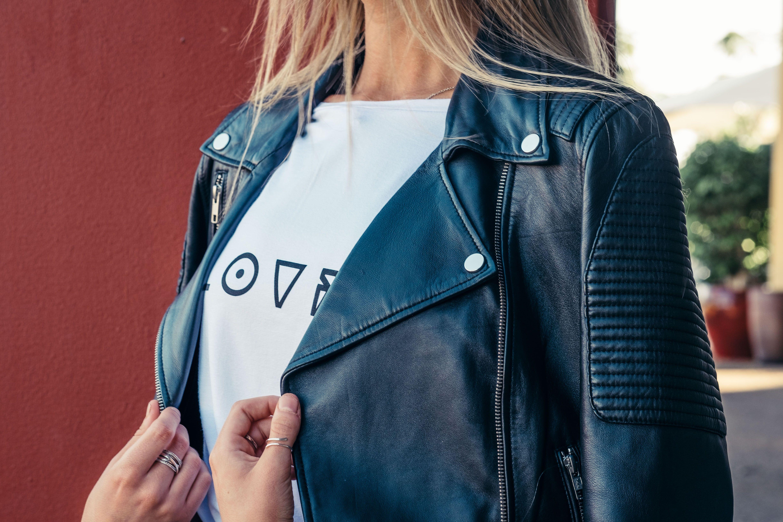 leatherjacket model editorial photoshoot fashion