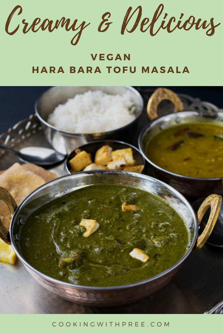 Hara Bhara Tofu Masala