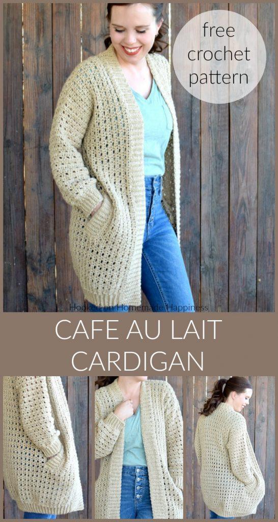 Patron Crochet Cardigan Cafe au Lait   – Zukünftige Projekte