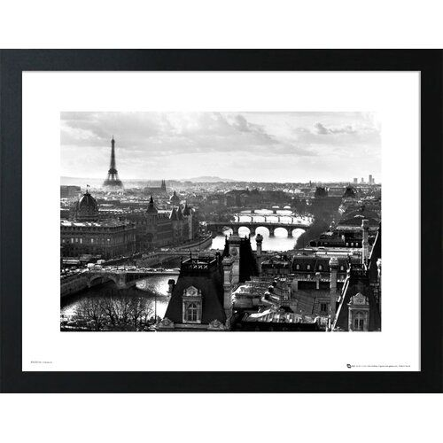Photo of Poster Paris East Urban Home Format: frame made of walnut wood, size: 50 cm H x 70 cm W