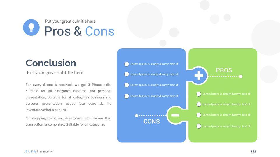 ELFA - Multipurpose Powerpoint Template Infographic illustrations