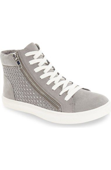 e7ca0664571 Steve Madden  Elyka  Laser Cut High Top Sneaker (Women)