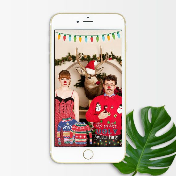 snapchat filter christmas christmas geofilter ugly christmas sweater party holiday geofilter sna