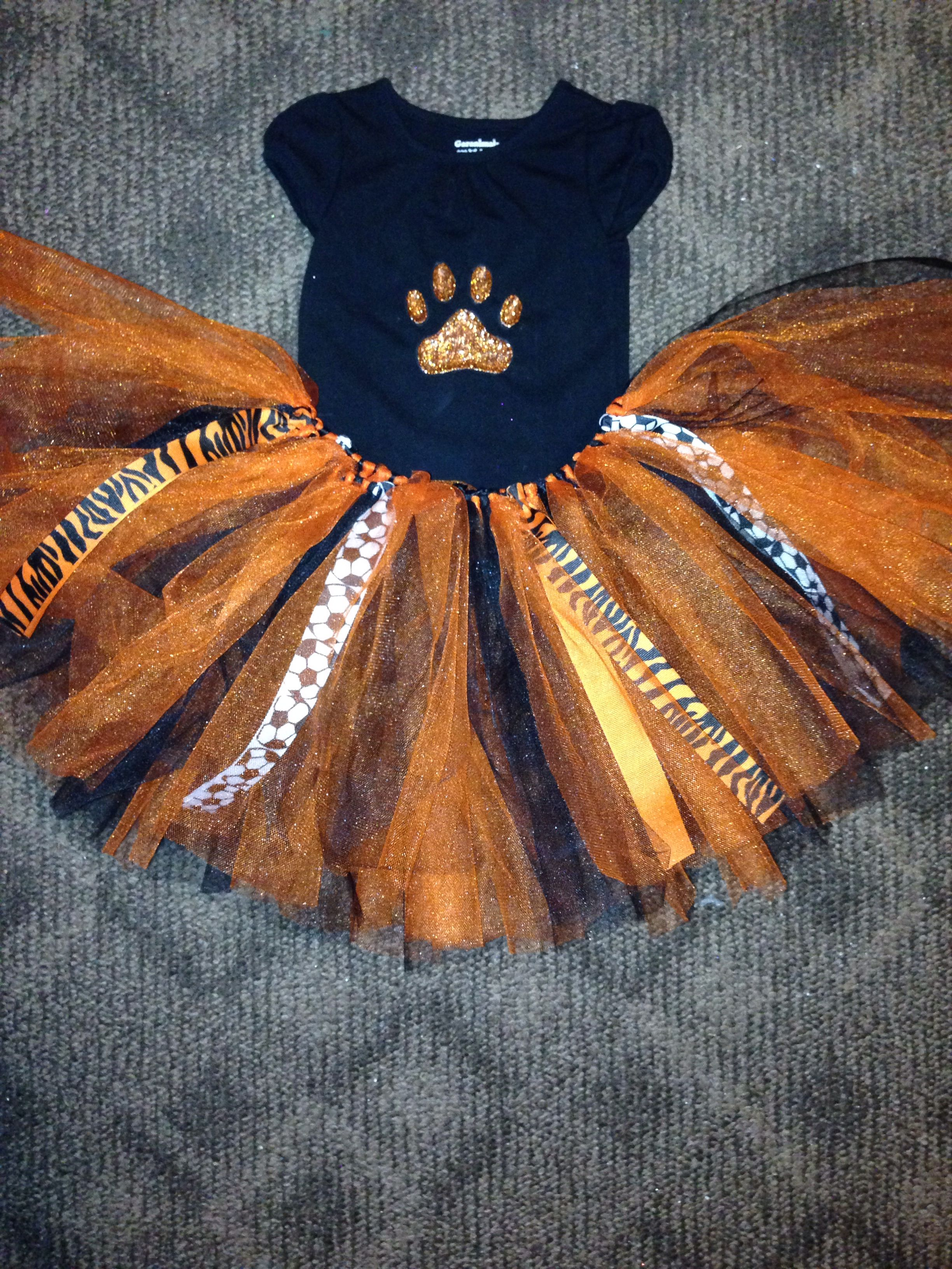 a7ea24655d Tiger paw shirt with orange and black tutu | Costumes in 2019 ...