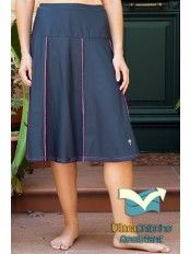 c63cfa798db3e Waters Edge Hip Hiding Drop Waist Long Swim Skirt (27