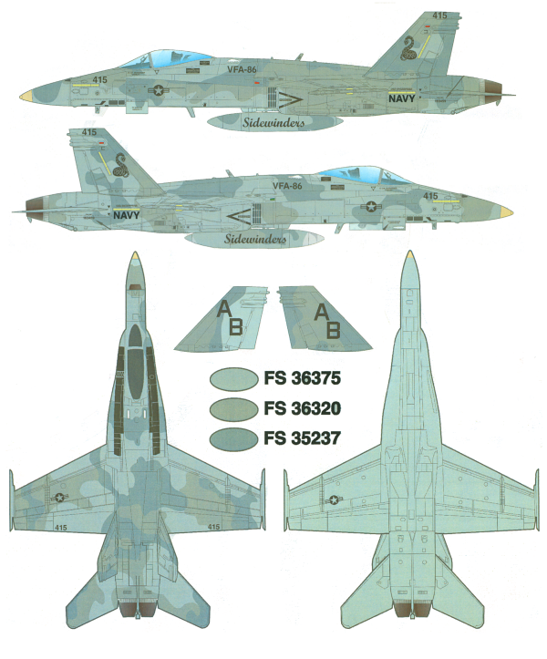 Here is the McDonnell Douglas F/A-18C Hornet Three-Gray Camouflage ...