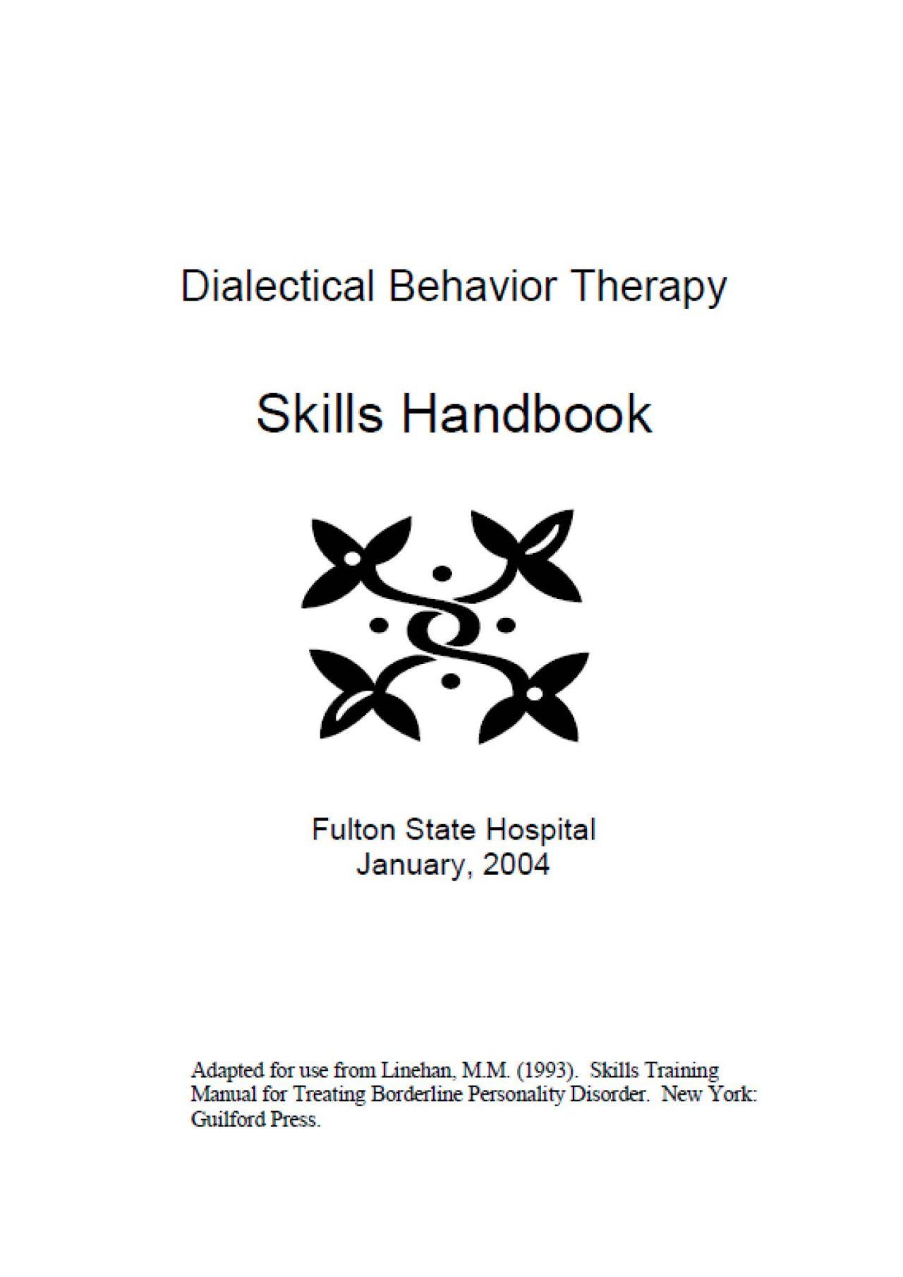 Healingschemas The Dbt Skills Handbook Is Probably The Best Dbt Skills Resource Available