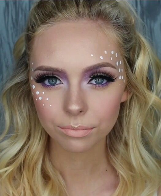 Beautiful Festival Face Paint With Glitter