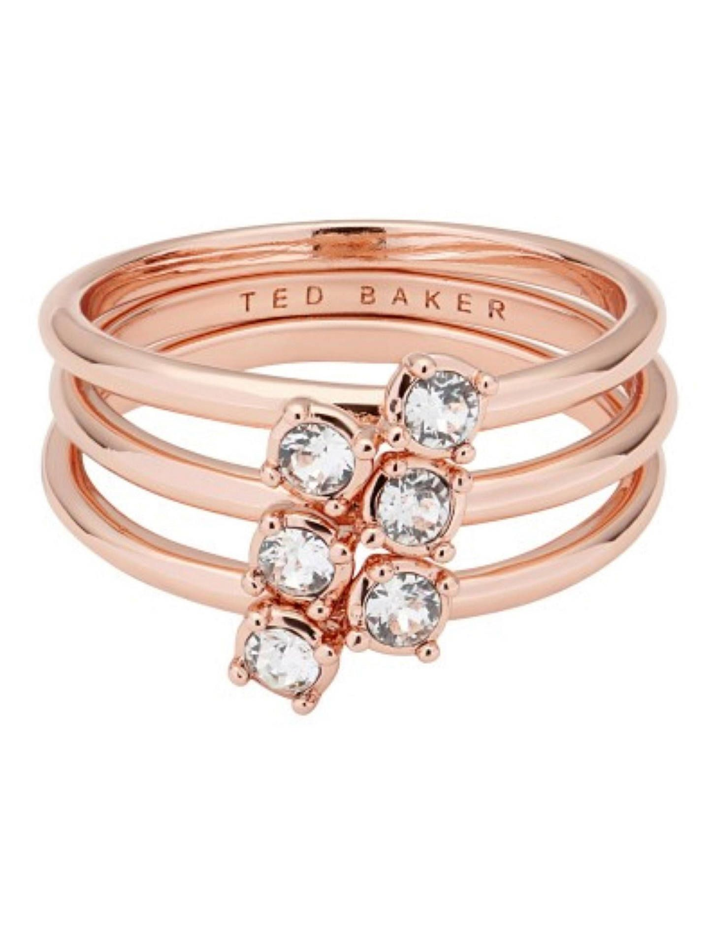 6084aab37200c2 BuyTed Baker Elwyn Princess Sparkle Stacking Ring