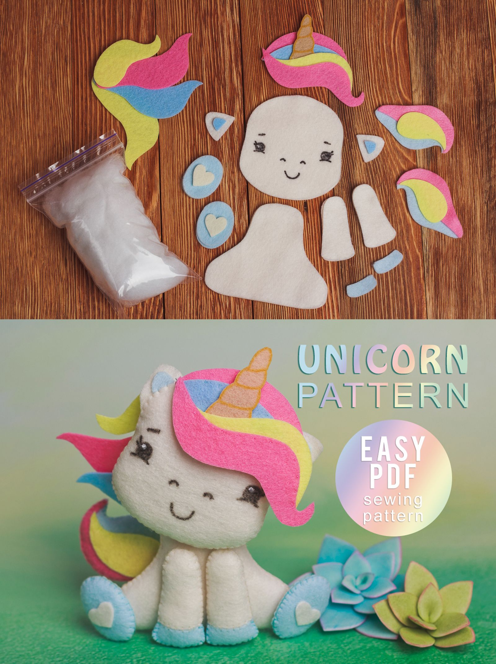 Unicorn sewing kit Felt Craft Kit for kids and adults