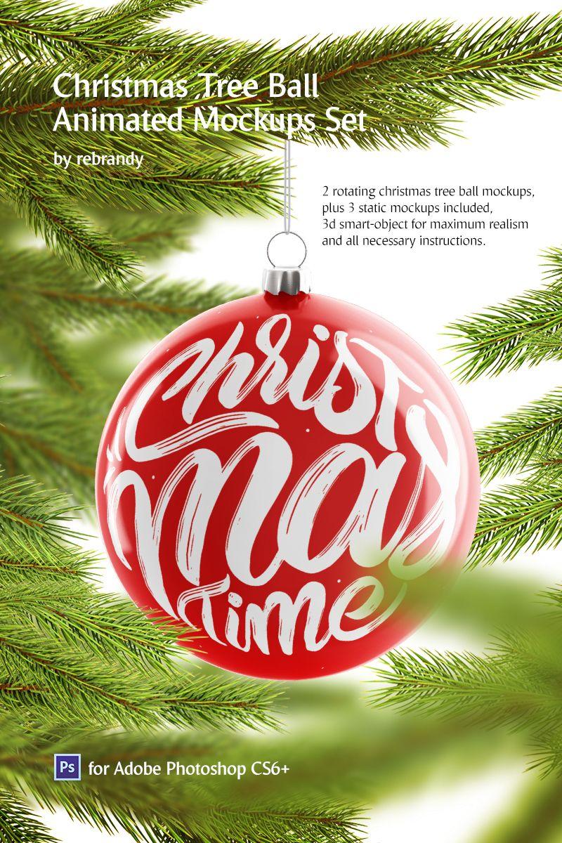 Christmas Ball Animated Product Mockup 74174 Christmas Balls Rotating Christmas Tree Christmas Pattern