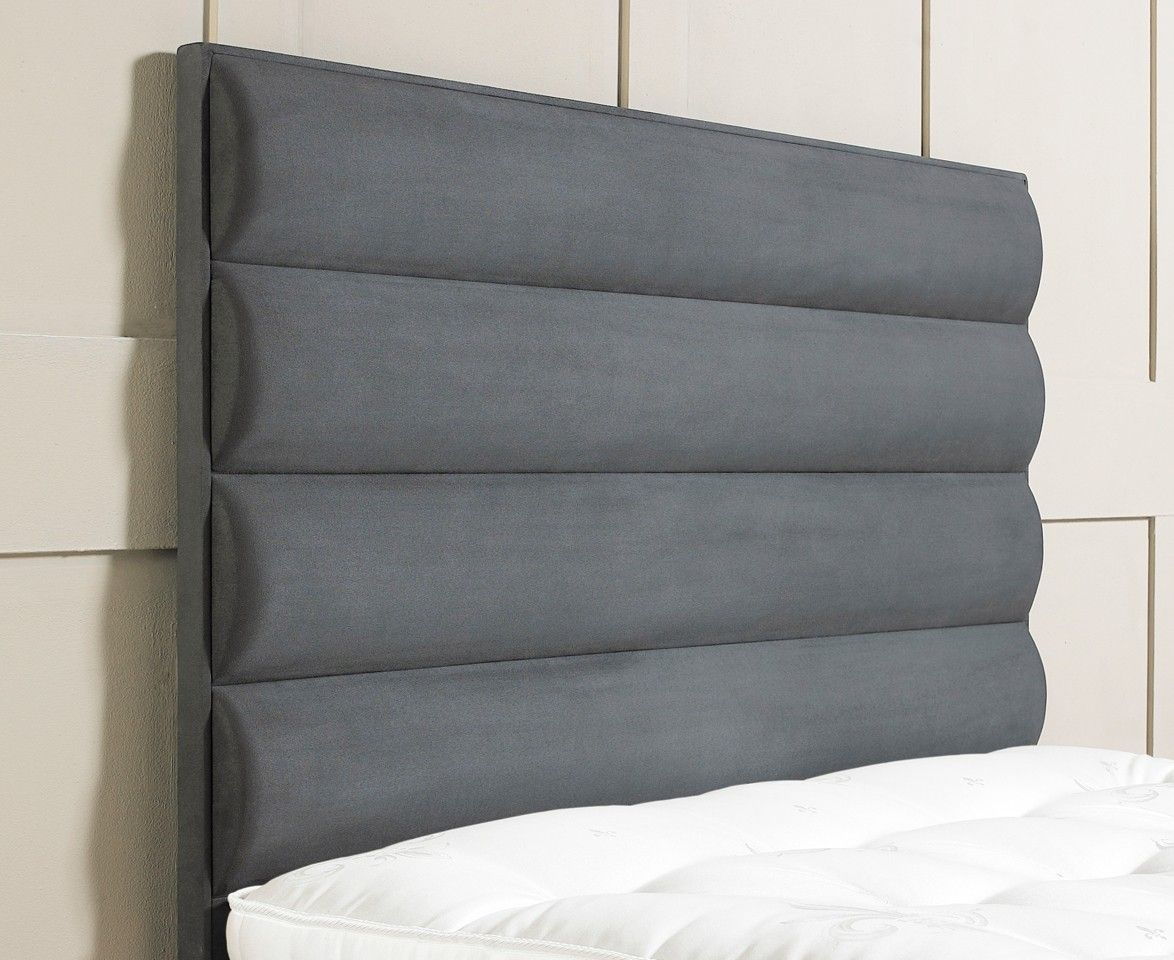 Tubes Upholstered #Headboard. Horizontal Tube Sections Projecting A Soft,  Deep Padded Effect.