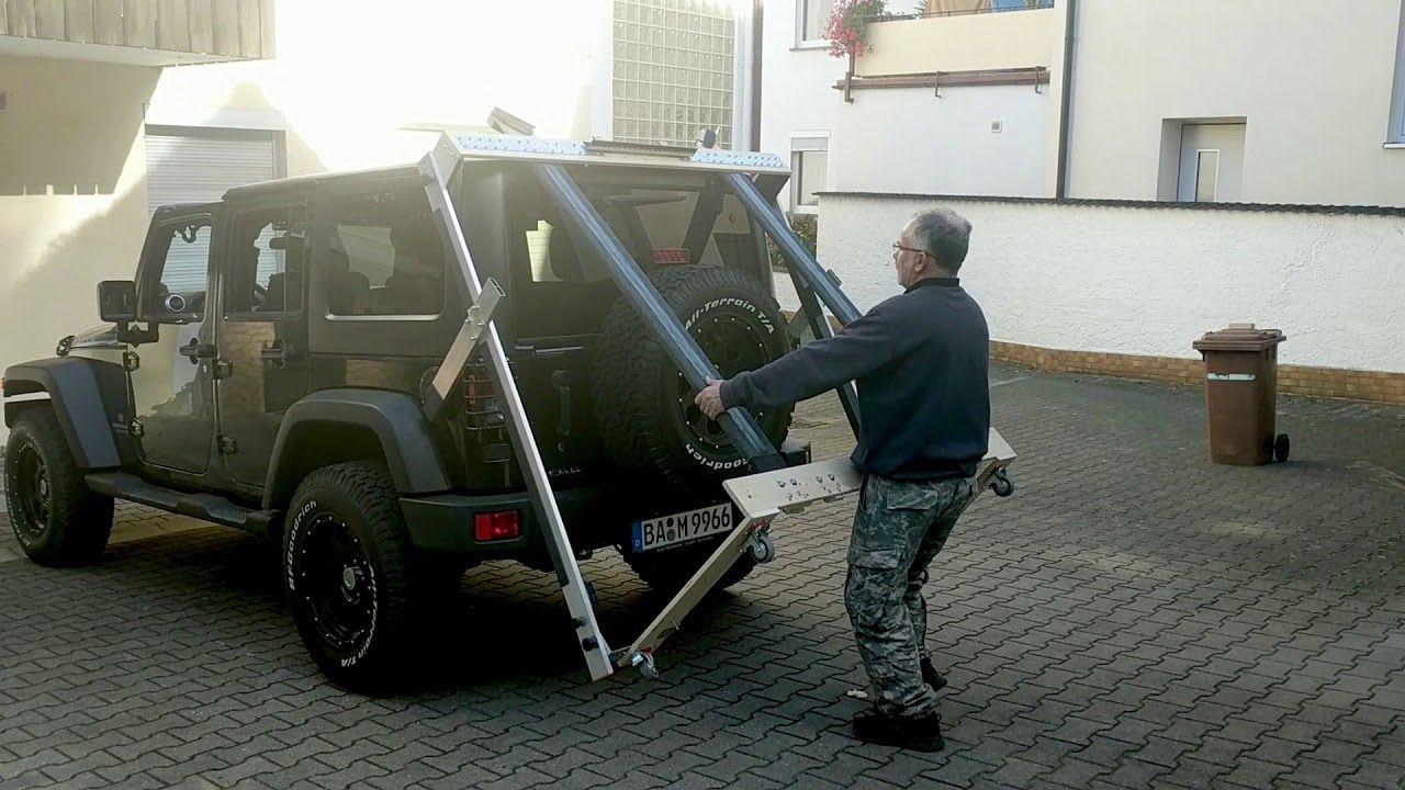 Jeep Wrangler Jk Hardtop Storage Cart Prototype Jeep Wrangler Jk