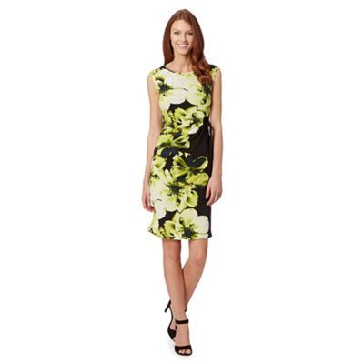 The Collection Black bloom graphic print dress- at Debenhams.com