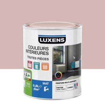 Peinture Rose Blush 5 Luxens Couleurs Interieures Mat 0 5 L Leroy Merlin Couleur Interieure Peinture Vert Kaki Peinture Violet