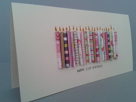 Happy 21st Birthday Candle Card Can Be Personalised With A Name