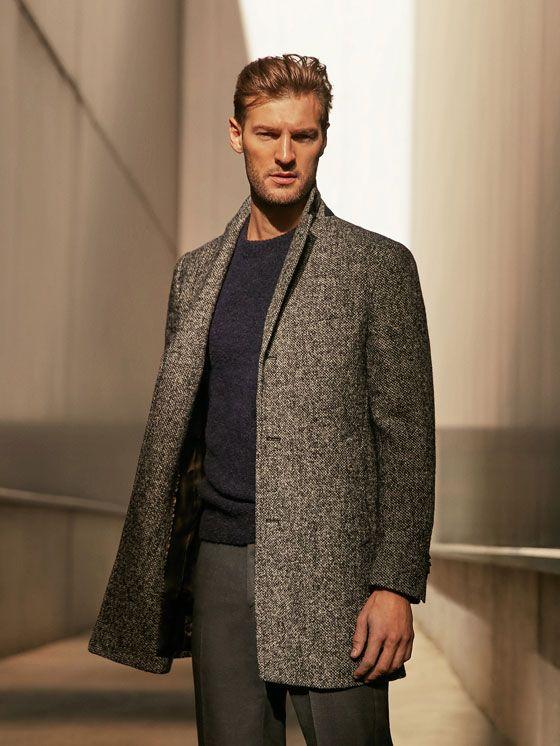 Abrigos de hombre elegantes   Massimo Dutti   Moda hombre