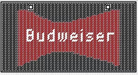 Budweiser license plate