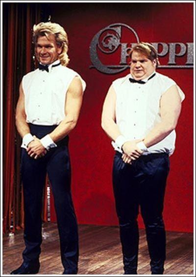Patrick Swayze & Chris Farley on SNL. My favorite skit!
