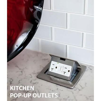 Kitchen Countertop Pop Up 20a Gfci Outlet Stainless