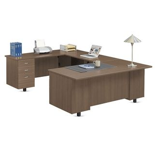 Ascend U-Desk with Left Bridge // NBF Signature Series Ascend Collection