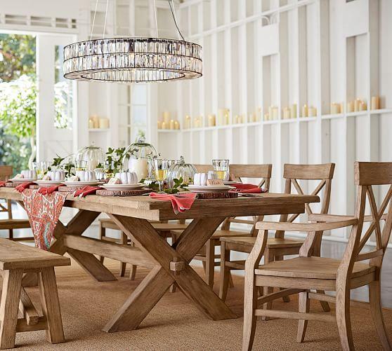 Toscana Extending Dining Table Pottery Barn Home Decor