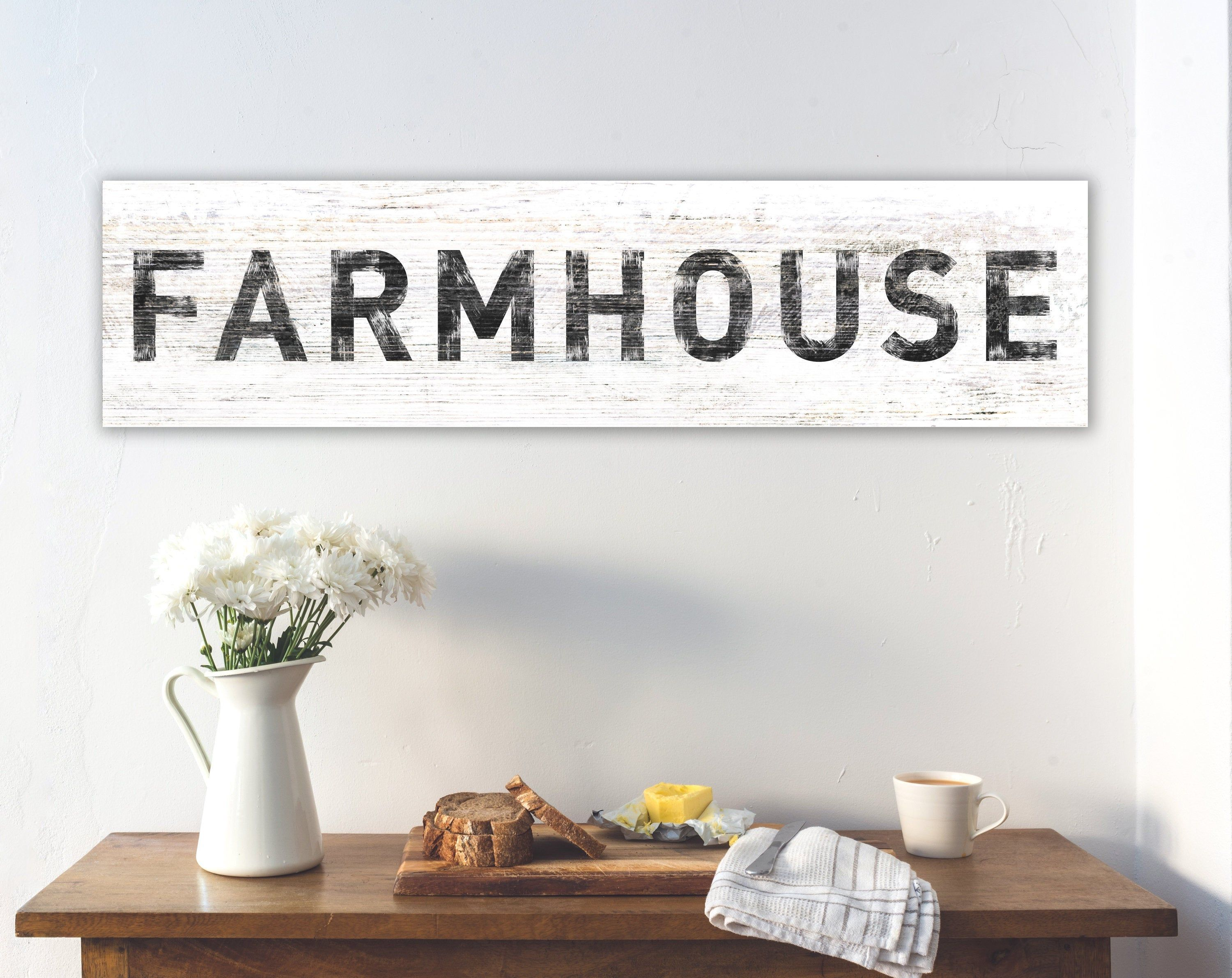 Large Farmhouse Sign Modern Farmhouse Wall Decor Rustic Etsy Farmhouse Wall Decor Rustic Wall Decor Country Dining Rooms