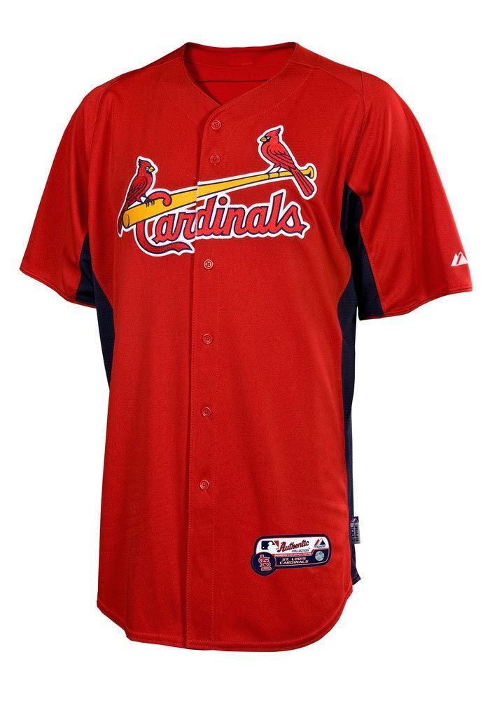 a74899bb3abb St Louis Cardinals Mens Baseball Jersey - Red STL Batting Practice Baseball  Jersey ...