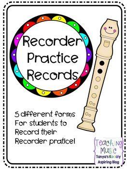 Recorder Practice Records | Music on Teachers Pay Teachers