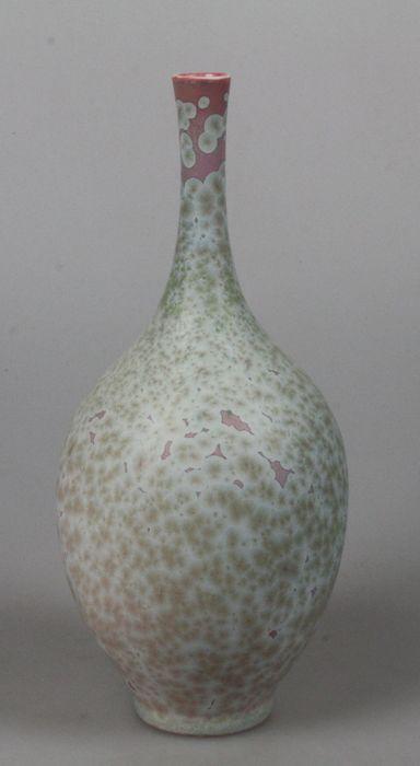 Hein Severijns - porseleinen vaas met kristalglazuur