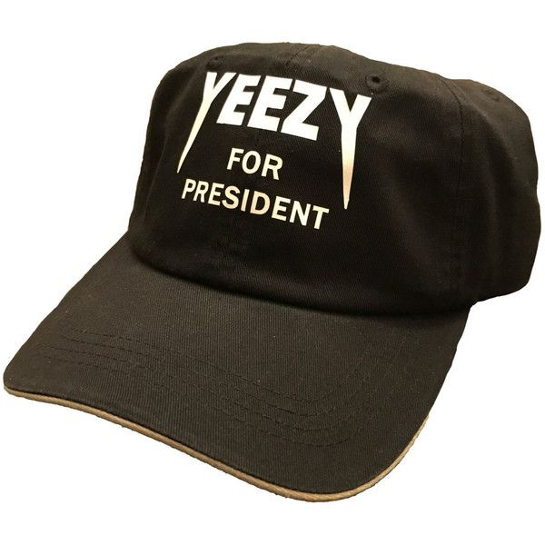 75186fe4 Yeezy voor voorzitter Kanye West KYC Vintage 2020 Yeezus papa Hat... ❤  liked on Polyvore featuring accessories, hats, cap hats, navy hat, navy  blue hat, ...
