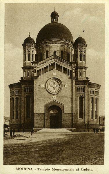 Modena, tempio monumentale ai Caduti, cartolina d\'epoca (foto ...