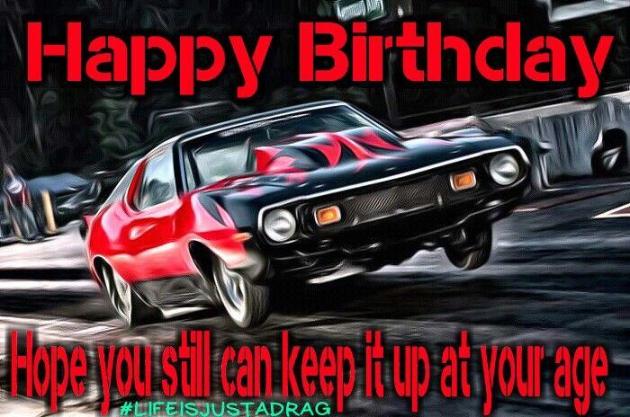 Happy birthday drag racing