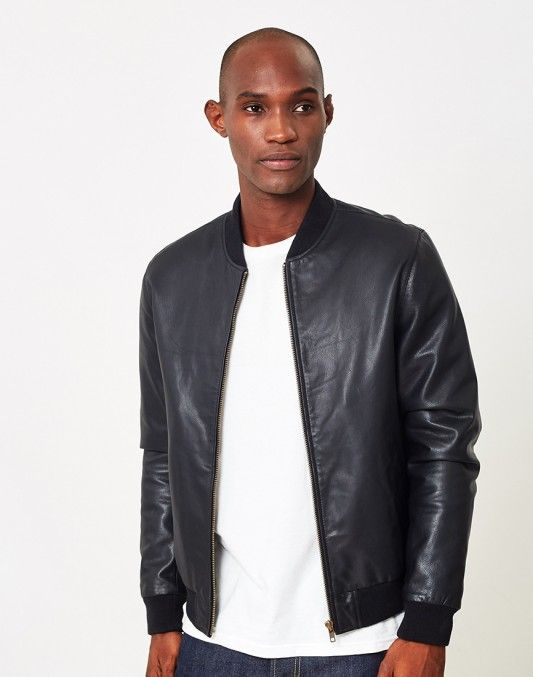 The Idle Man Leather Bomber Jacket - BLACK FRIDAY SALES CONTINUE ...
