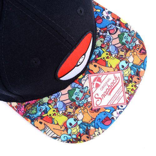 picture of Poké Ball Sublimated Bill Snapback Baseball Cap | Pokémon 6