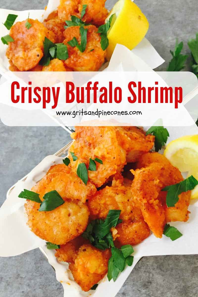 The Best Crispy Buffalo Shrimp Recipe | gritsandpinecones.com