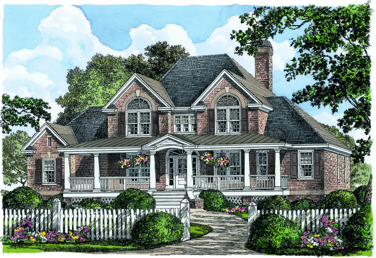 Brick Farmhouse with Southern Charm | House, Bricks and Spaces