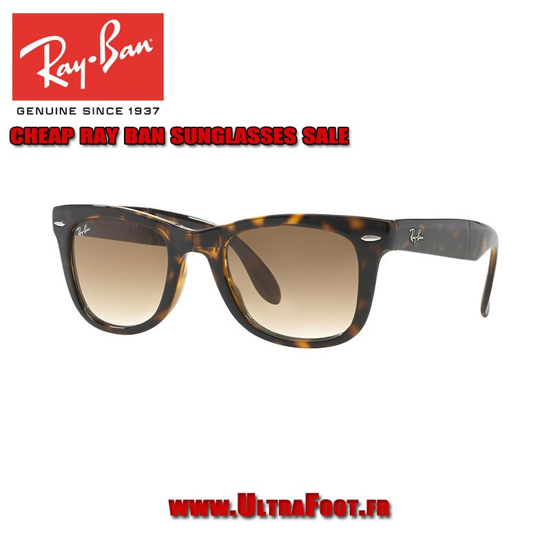 8b4f83fc2d ... cheap pas cher ray ban rb4105 lunettes de soleil plier 54 wayfarer  tortoise brown brown ultrafoot ...