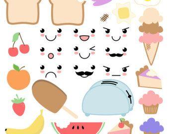 Friendship Food Cartoon 2 Best Friend Cute By CeliaLauDesigns