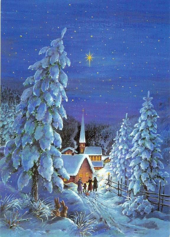Зимний пейзаж открытки картинки, праздничные открытки