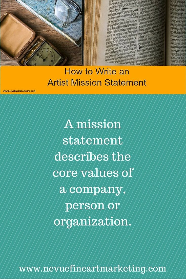 How to write an artist mission statement writing core