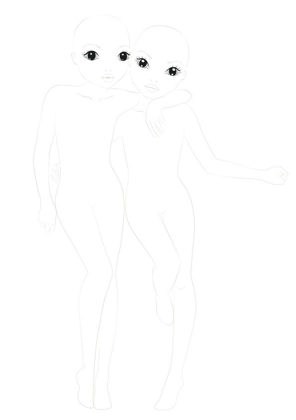 Pingl par laeti klj sur coloriage top model pinterest dessin dessin de mode et id e dessin - Coloriage top model a imprimer ...
