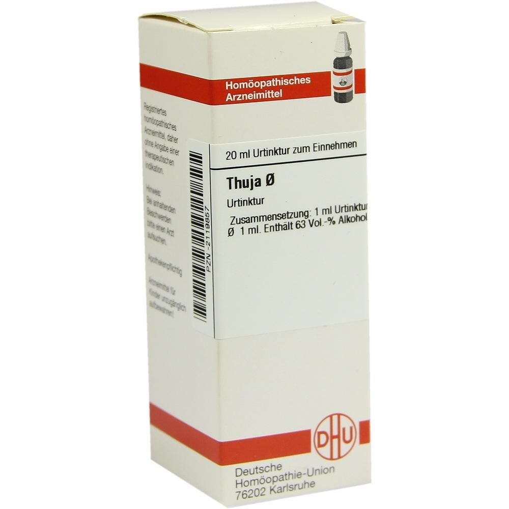 THUJA Urtinktur Packungsinhalt 20 ml Dilution PZN