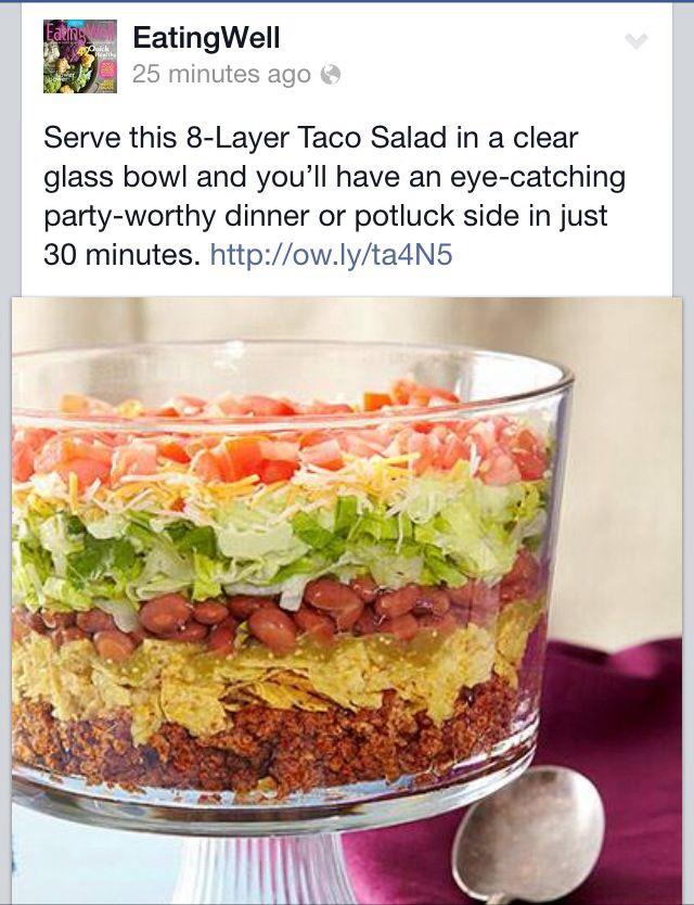 Pin By Lisa J On Recipes Recipes Layered Taco Salads Food